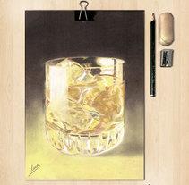 Lápices de colores. Whisky. Un proyecto de Ilustración y Bellas Artes de Mar Gómez - 15-03-2015