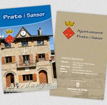 Ajuntament de Prats i Sansor. Un proyecto de Diseño, Fotografía, Diseño editorial, Diseño gráfico y Diseño de la información de José Ramón Viza         - 09.03.2015
