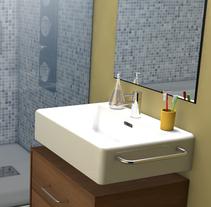 3D Bathroom. Un proyecto de 3D y Arquitectura interior de Albert Baldó - 10-03-2015
