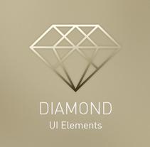 Diamond UI Elements. Um projeto de UI / UX, Direção de arte, Design gráfico, Web design e Desenvolvimento Web de ▼ Pat Ba ▼  - 10-03-2015