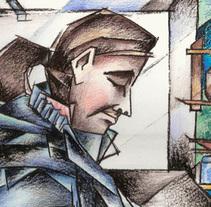 Portraits - series1. Um projeto de Ilustração de Alicia Acuña         - 10.03.2015