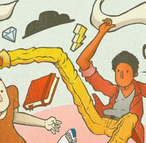 3 cabezas son mejor que una.. Um projeto de Ilustração e Design de personagens de 3 Heads STUDIO  - 19-03-2015