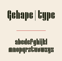 Gehape | type. A Calligraph, Design, Editorial Design, Graphic Design, T, and pograph project by Chensio  - 04.19.2015