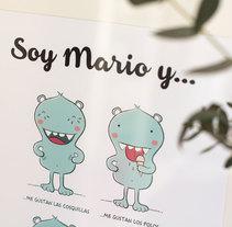 Lámina personalizada para Mario. Un proyecto de Ilustración de Estíbaliz  Ferrete         - 23.04.2015