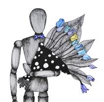 Posicional/ HE & SHE. Um projeto de Ilustração, Direção de arte e Design gráfico de Solange Morello         - 24.01.2014