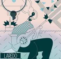 GIG POSTER. Laredo. A Illustration, Art Direction, and Graphic Design project by Del Hambre  - 26-04-2015