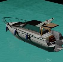 Yate 3D con Autocad (2014). Um projeto de Design, 3D, Arquitetura, Design de automóveis, Design de produtos e Design de brinquedos de Antonio Fernández Olombrada         - 11.01.2014