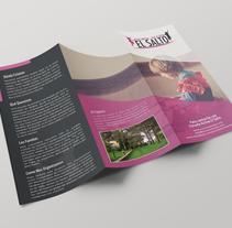 Tríptico Escuela Activa El Salto. Un proyecto de Diseño, Diseño editorial, Diseño gráfico y Educación de Alfredo Moya - Miércoles, 06 de mayo de 2015 00:00:00 +0200