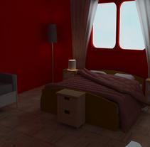 Habitación - Diseño e iluminación. Um projeto de 3D de Emilio Guzmán         - 06.05.2015