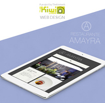 Restaurante Amayra Web Design. Un proyecto de Diseño Web de Raquel Paramio Sastre         - 12.05.2015