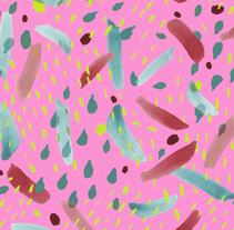 """Summer Party"" - Pattern Collection Summer 2015 -. Um projeto de Design e Ilustração de Carmen Pérez Medina - Surface Pattern Designer - - 18-05-2015"