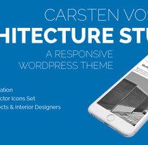 Carsten Vostell Architecture Studio – Architects & Interior Designers – WordPress Theme. Um projeto de UI / UX, Arquitetura, Arquitetura de interiores, Design de interiores, Web design e Desenvolvimento Web de Chicle         - 19.05.2015