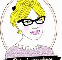 Girls who wear glasses. A Design&Illustration project by Marta María         - 24.05.2015