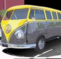 Vehículo en lllustrator CC . Um projeto de Ilustração de Zaida Morales Perez         - 25.05.2015