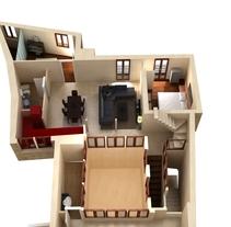 Proyecto reforma piso. plano sección. 3d. Um projeto de 3D de monica perez         - 26.05.2015