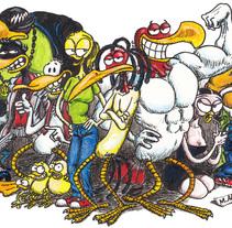 """Ilustraciones para Cómic """"¡Vida de Pollo!"""". Un proyecto de Ilustración de Miguel Angel Arqués Orobón         - 26.05.2015"""