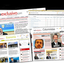 Sitio de Noticias Infoexclusivo. Un proyecto de Diseño, Diseño gráfico y Diseño Web de Natalia Delgado Deus         - 10.03.2012