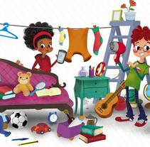 mercadillo!.Fichas didácticas. SOGAMA. Un proyecto de Ilustración, Diseño de personajes, Diseño editorial, Bellas Artes y Diseño gráfico de Laura Cortés         - 03.06.2015