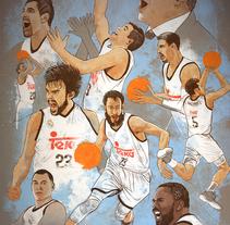 Baloncesto Real Madrid 2015. Un proyecto de Ilustración y Pintura de Fende - 24-06-2015