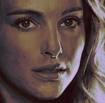 Natalie Portman. A Illustration, and Painting project by miguel sastre - 06-07-2015