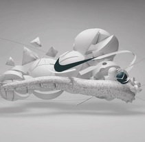 Nike Run. A Design, Advertising, Motion Graphics, 3D, Animation, Art Direction, Br, ing, Identit, Shoe Design, and Video project by Borja Alegre  - 16-07-2015