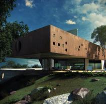 Burdeos House, render exterior. A 3D, Architecture, Graphic Design, and Post-Production project by Rodrigo martinez ruiz         - 21.07.2015