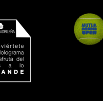 Hologramas Mutua Madrid Open. Um projeto de 3D de Tomás González         - 26.07.2015