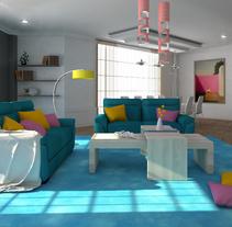 lighting 3d max V ray photoshop. A Design, 3D, Interior Architecture&Interior Design project by Carmen San Gabino - 30-07-2015