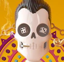 Día de muertos con Cinema 4D. A 3D, Character Design, and Graphic Design project by David Comerón         - 24.01.2016