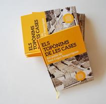 Els Topònims. A Editorial Design project by Àngels Pinyol         - 28.03.2015