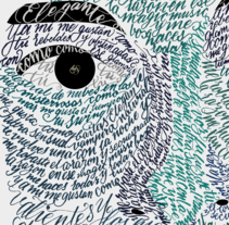 Retrato con letra ligada. Un proyecto de Ilustración, Tipografía y Caligrafía de Miguel Angel Contreras Cruz         - 05.08.2015