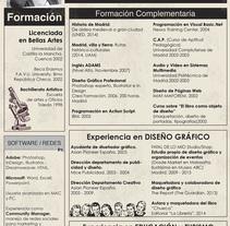 Mi último CV. Un proyecto de Diseño de Rocío Córdoba - 06-08-2015