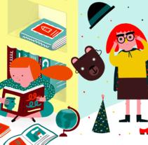 Carteles para Aula - Santillana Educación. Un proyecto de Ilustración y Diseño gráfico de ana seixas         - 06.01.2015