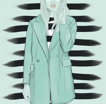 Ilustración para moda. A Illustration, and Fashion project by Cristina Mufer         - 09.08.2015