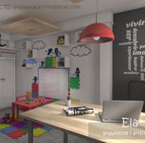 Propuesta de diseño interior para un consultorio de Psicologos (3DStudio + Vray + Photoshop). Un proyecto de Diseño, 3D, Arquitectura, Arquitectura interior y Diseño de interiores de Laura         - 19.08.2015