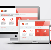 Cuble Responsive Web Design. A UI / UX, Graphic Design, and Web Design project by Gema Sahuquillo         - 27.10.2013