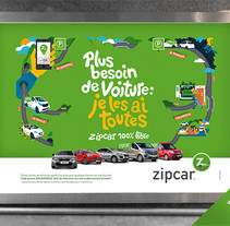 Zipcar. A Design, Illustration, and Art Direction project by Red Vinilo  - Sep 16 2015 12:00 AM