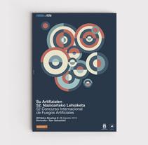 Cartel ganador de la 52 edición del Concurso Internacional de Fuegos Artificiales.. Un proyecto de Diseño, Ilustración, Dirección de arte y Diseño gráfico de TGA +  - 01-08-2015