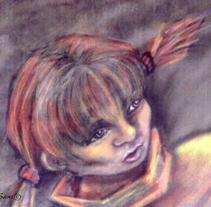 """""""La niña que habla"""". A Animation, Character Design, and Video project by Concepción Sanz - 01-04-2005"""