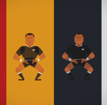 All Blacks Haka. A Illustration, and Animation project by Sergio Rodríguez - 23-09-2015