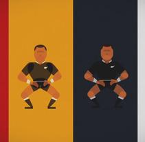All Blacks Haka. Un proyecto de Animación e Ilustración de Sergio Rodríguez - 24.09.2015