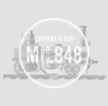 Restaurante MIL848. A Art Direction, Br, ing, Identit, and Graphic Design project by Xavi Teruel - 28-09-2015