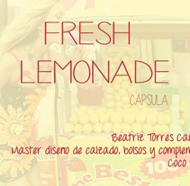 FRESH LEMONADE . A Shoe Design project by Beatriz Torres Carbonell         - 05.10.2015