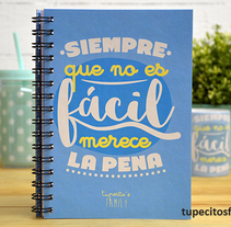 Libretas Tupecito´s Family. A Product Design project by Alfonso         - 15.10.2015