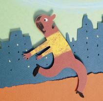 """""""El senyor, el barret i el cacauet"""", cuento infantil de Pere Puig.. A Illustration project by Pere Puig - 16-01-2015"""