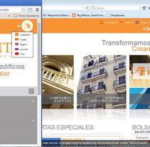 rentacorporacion.com. Um projeto de Web design de Gema R. Yanguas Almazán         - 14.07.2015