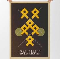 Cartel tipo Bauhaus. Proyecto deconstrucción de un cartel animado. De más a menos.. A Graphic Design project by Uri          - 28.10.2015