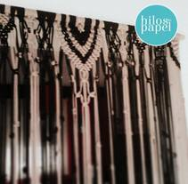 Cortina de macrame. A Crafts, and Fine Art project by hilosdepapel         - 05.11.2015