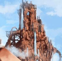Cascadas de otro planeta. Un proyecto de Diseño, Ilustración, Bellas Artes y Pintura de Adrián Iglesias - 11-11-2015