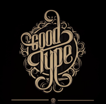 Proceso Lettering: Good Type . A Calligraph, Design, Graphic Design, Illustration, T, and pograph project by Homar Aparicio  - Nov 22 2015 12:00 AM